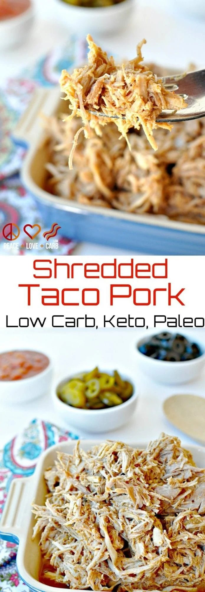 Low Carb Shredded Taco Pork - Keto, Paleo | Peace Love and Low Carb