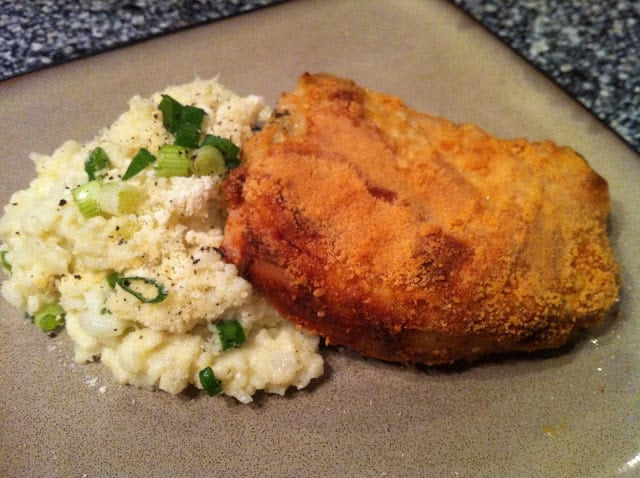 Keto Parmesan Dijon Crusted Pork Chops | Peace Love and Low Carb