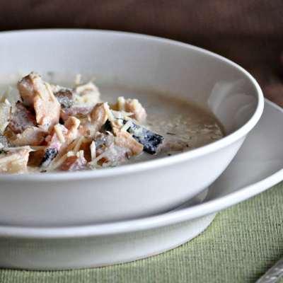 Keto Chicken Cordon Bleu Soup | Peace Love and Low Carb