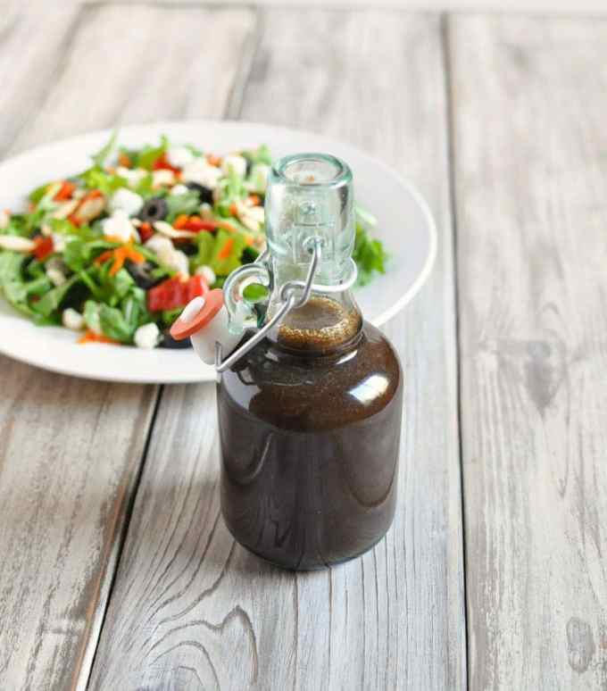 Balsamic Shallot Vinaigrette Dressing   Peace Love and Low Carb