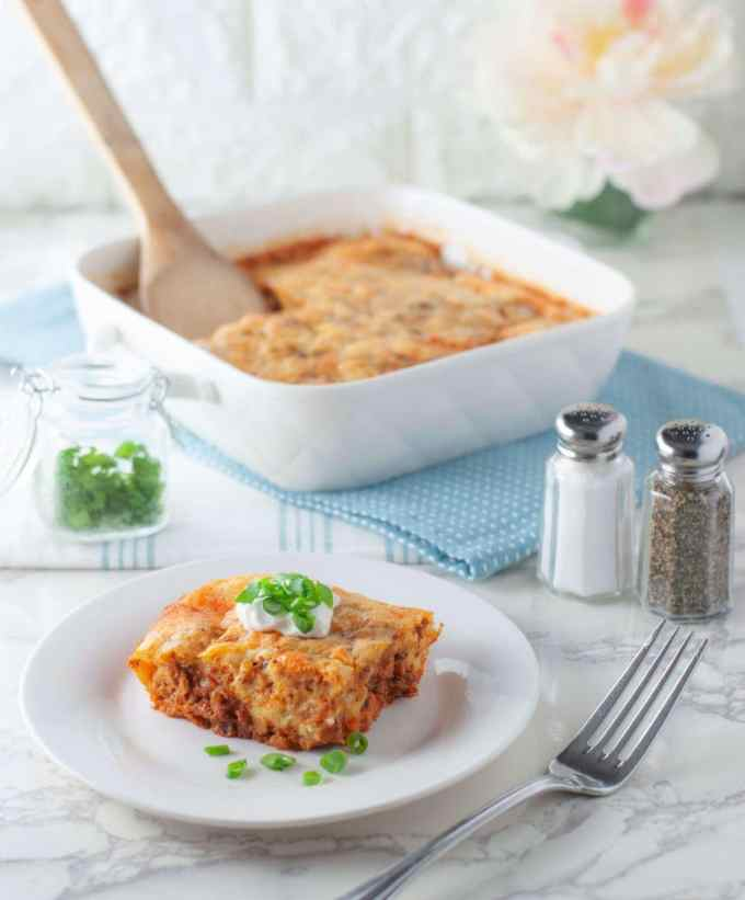 Cheesy Chorizo Breakfast Bake | Peace Love and Low Carb