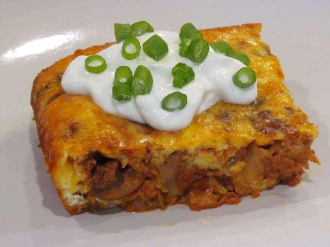 Cheesy Chorizo Breakfast Bake - Low Carb, Gluten Free