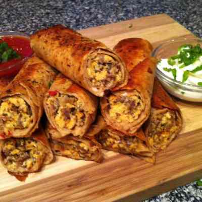 Spicy Sausage Breakfast Taquitos