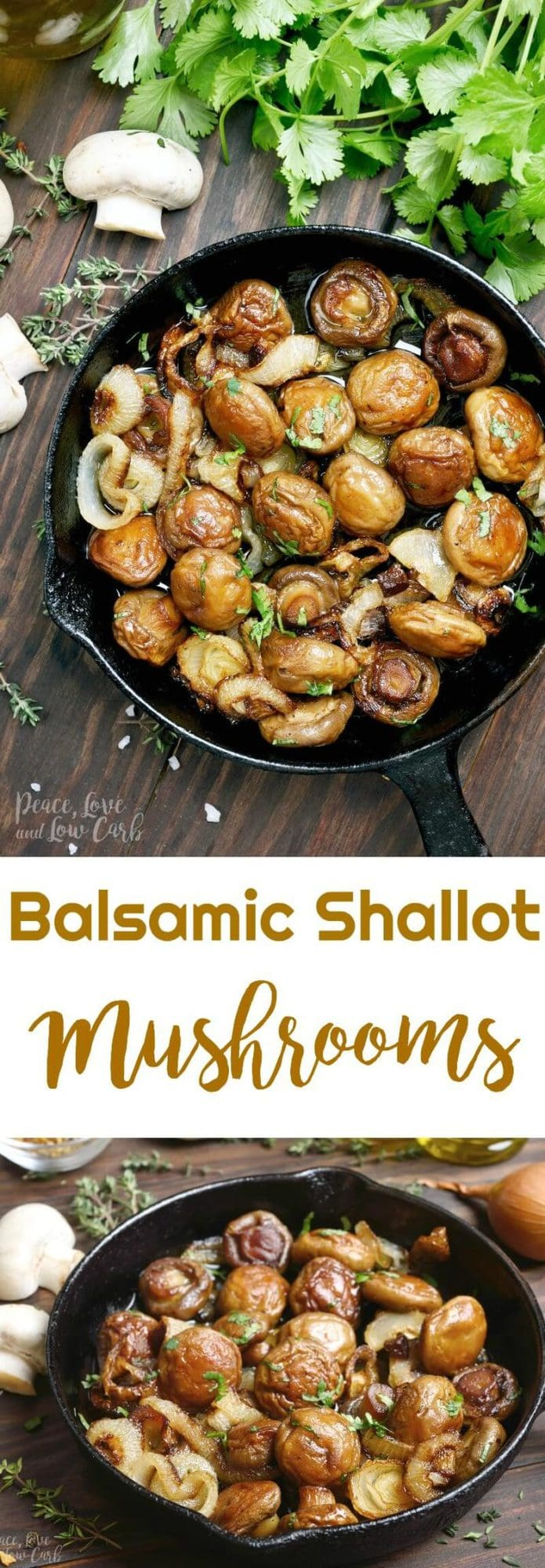 Balsamic Shallot Mushrooms | Peace Love and Low Carb