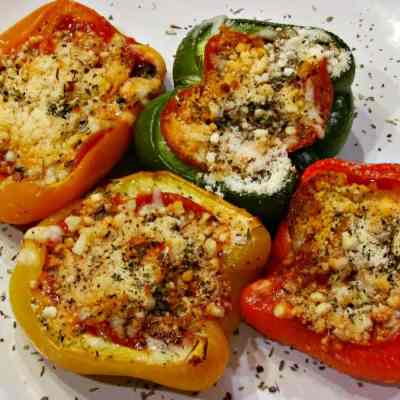 Pepperoni Pizza Stuffed Peppers - Low Carb, Gluten Free   Peace Love and Low Carb