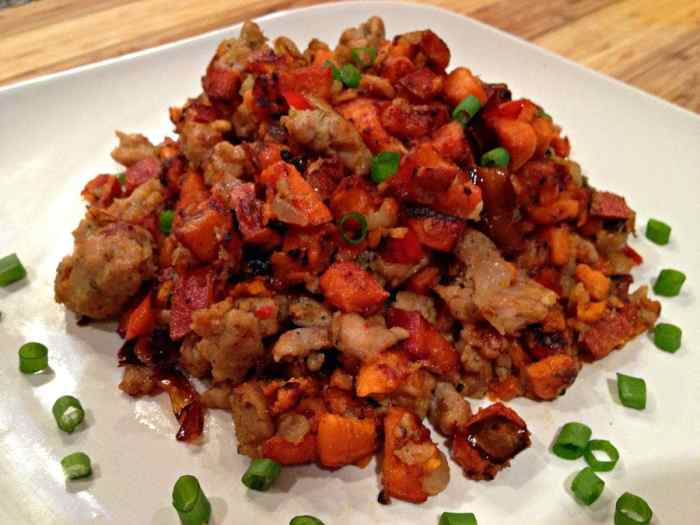 Chicken Sausage Sweet Potato Hash   Peace Love and Low Carb
