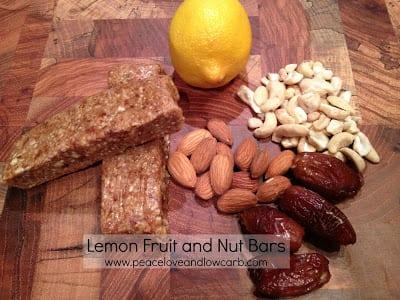 Lemon Fruit and Nut Bars – Gluten Free, Paleo