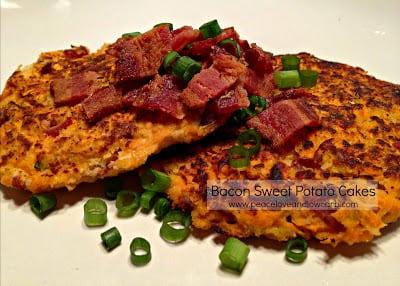 Bacon Sweet Potato Cakes (Low Carb, Paleo, Gluten-Free)
