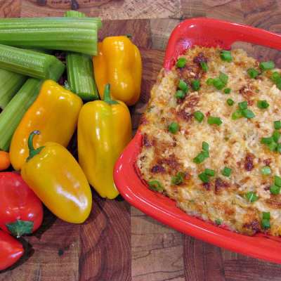 Hot Crab and Artichoke Dip - Keto, Low Carb, Gluten Free | Peace Love and Low Carb