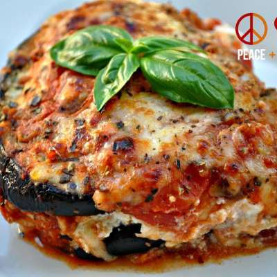 Eggplant Lasagna with Meat Sauce – Low Carb, Gluten Free