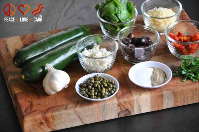 """Low Carb, Keto Mediterranean """"Pasta""""   Peace Love and Low Carb"""