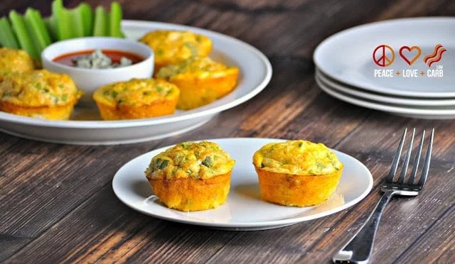 Buffalo Chicken Egg Muffins | Peace Love and Low Carb
