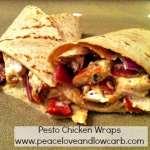 Pesto Chicken Wraps