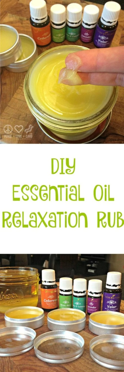 DIY Essential Oil Relaxation Rub - Peace Love and Essential Oils