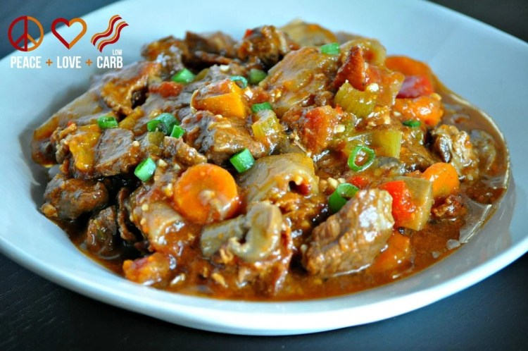 Keto Crock Pot Beef Stew | Peace Love and Low Carb