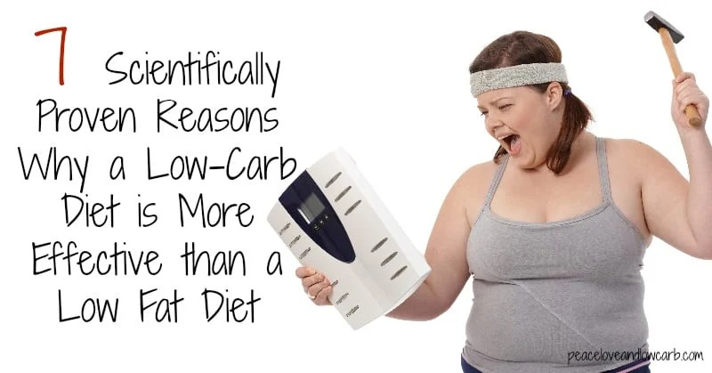 7 Scientifically Proven Reasons Why a Low-Carb Diet is More Effective than a Low Fat Diet