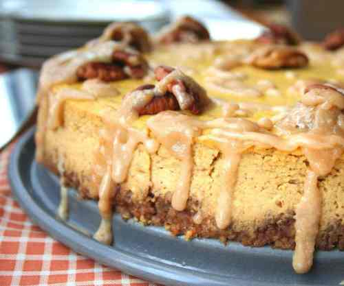 Pumpkin Bourbon Cheesecake