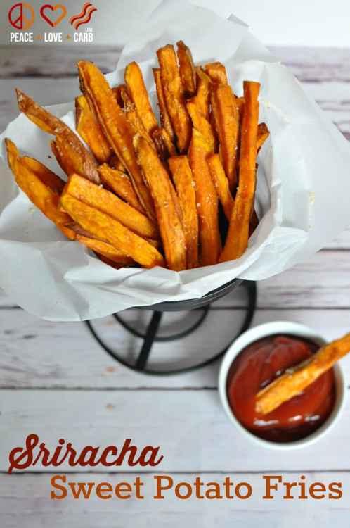 Sriracha Sweet Potato Fries - Paleo, Gluten Free