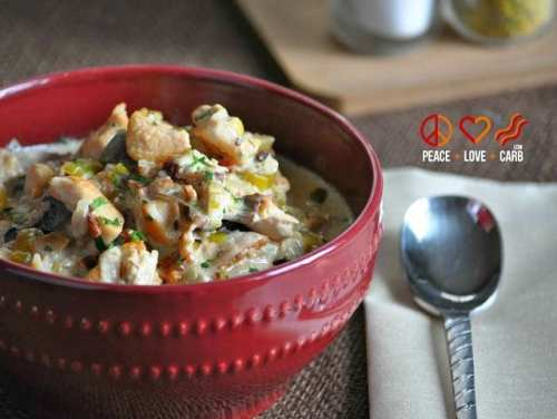 Chicken Bacon Crock Pot Chowder - Low Carb, Gluten Free