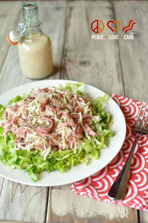 Low Carb Reuben Chopped Salad | Peace Love and Low Carb