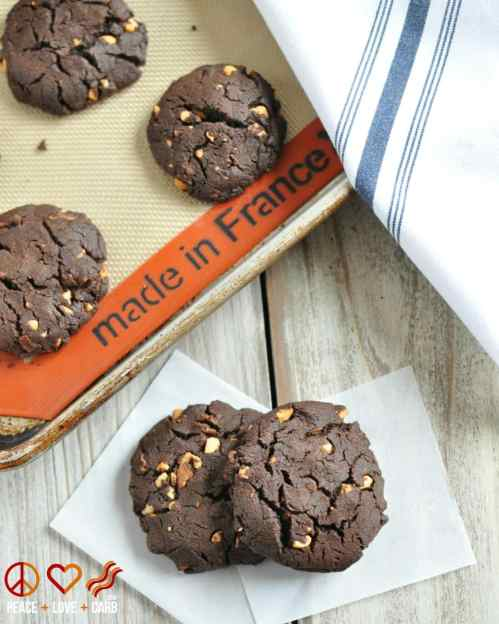 Chocolate Peanut Butter Bacon Cookies - Low Carb, Gluten Free