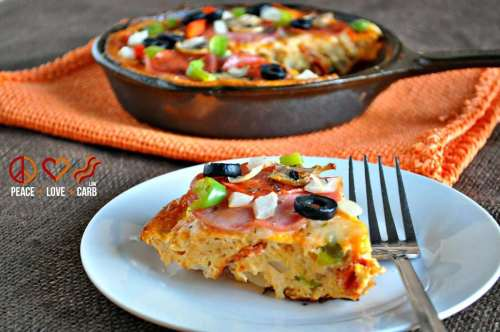 Pizza Frittata - Low Carb, Gluten Free