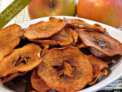 Pumpkin Spice Apple Chips - Low Carb Chip and Cracker Recipe Round-Up | Peace Love and Low Carb