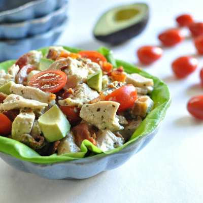BLTA Pesto Chicken Salad – Low Carb, Gluten Free, Paleo