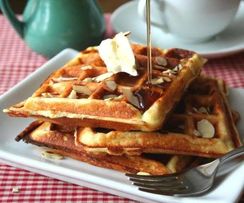 Low Carb Almond Flour Yogurt Waffles - Low Carb Pancake, Waffle and French Toast Recipe Round Up   Peace Love and Low Carb