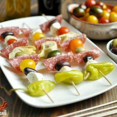 Antipasto Kebabs – Low Carb, Gluten Free