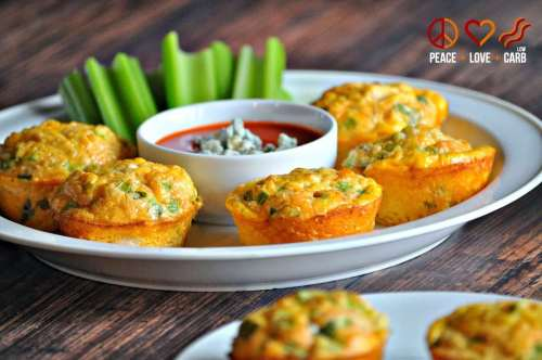Buffalo Chicken Egg Muffins - Grab and Go Egg Muffin Breakfast Round Up | Peace Love and Low Carb
