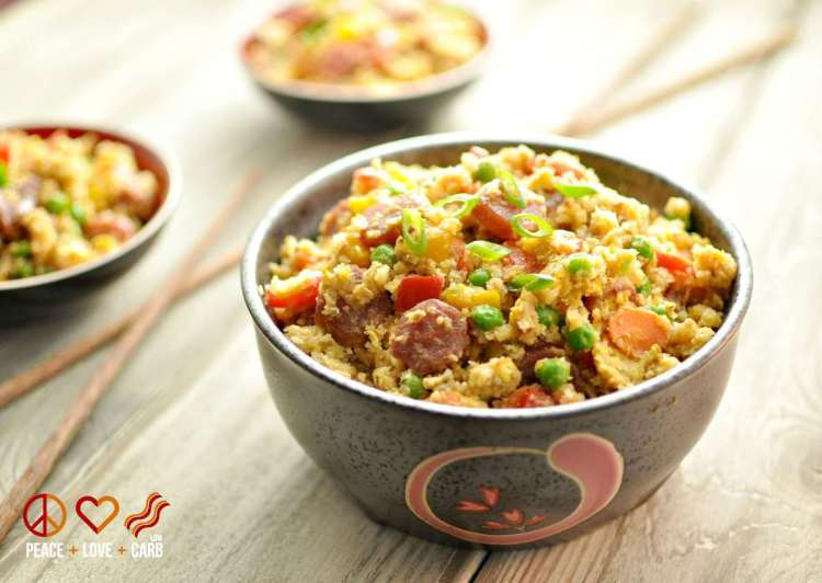 """Chinese Sausage Fried """"Rice"""" 