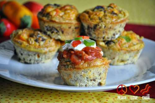 Taco Egg Muffins - Grab and Go Egg Muffin Breakfast Round Up | Peace Love and Low Carb