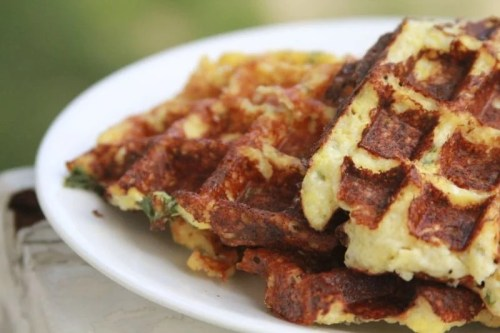 Savory Cheese Chive Waffles - Low Carb Pancake, Waffles and French Toast Recipe Round Up | Peace Love and Low Carb