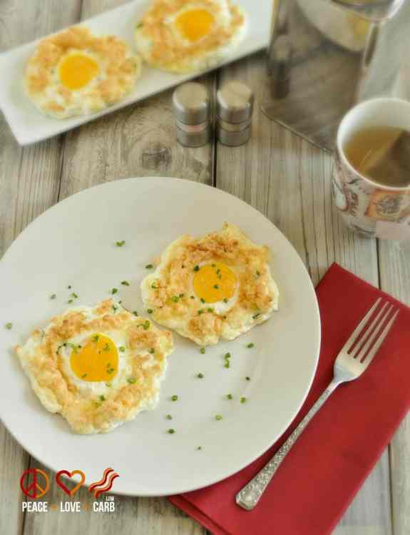 Sour Cream and Chive Egg Clouds | Peace Love and Low Carb