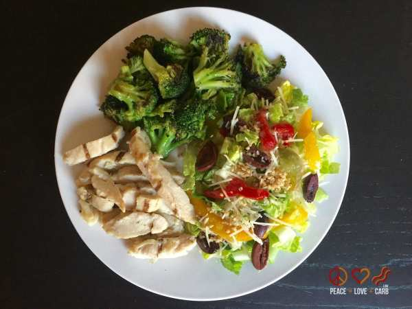 Chicken Broccoli and Salad   Peace Love and Low Carb