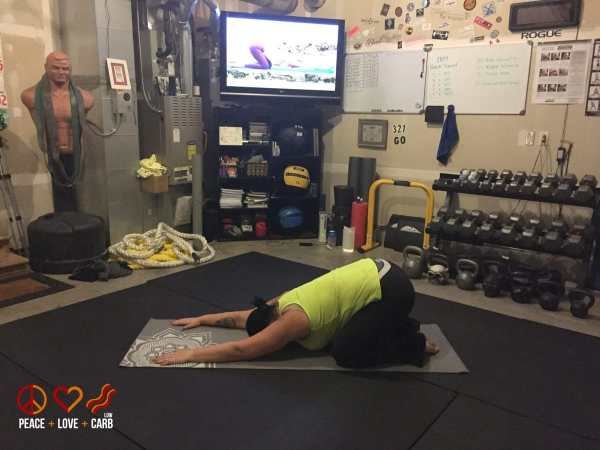 Day 19 Yoga - My 100 Pound Journey Peace Love and Low Carb