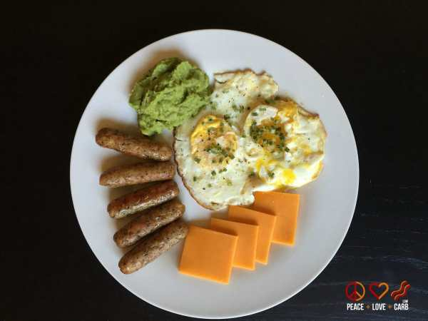 Day 5 Breakfast - My 100 Pound Journey Peace Love and Low Carb