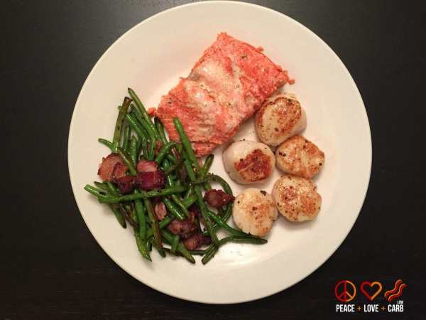 Dinner Day 6 - My 100 Pound Journey   Peace Love and Low Carb
