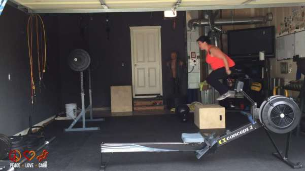 Working on Box Jumps during my Workout - Peace Love and Low Carb
