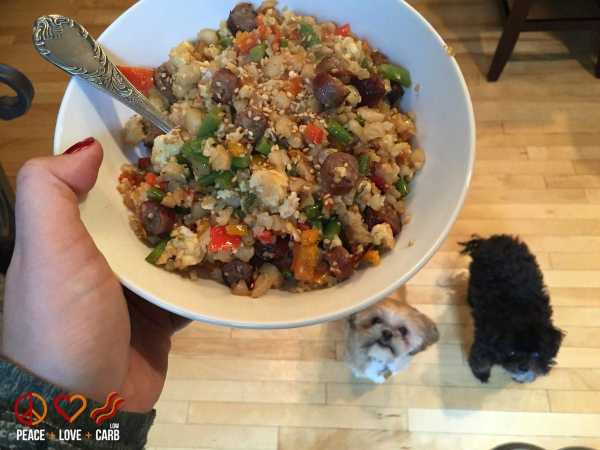 Fridge Dump Fried Rice | Peace Love and Low Carb