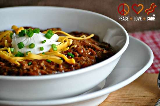 Kickin' Chili - Low Carb, Gluten Free | Peace Love and Low Carb
