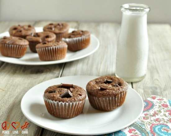 Chocolate Mocha Cupcakes - Low Carb, Gluten Free   Peace Love and Low Carb