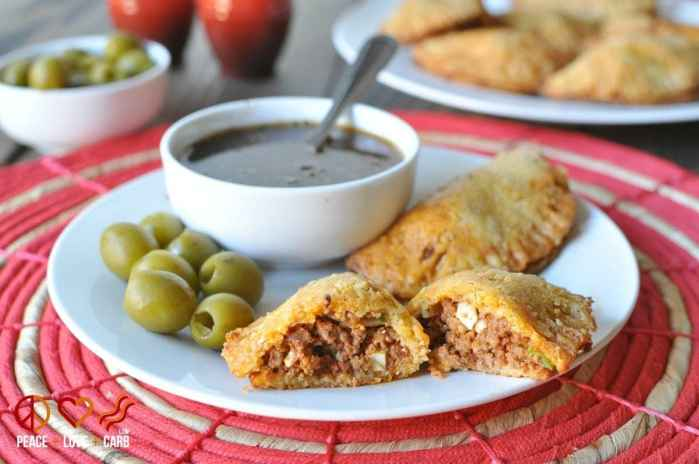 Beef and Chorizo Empanadas with Balsamic Chimichurri - Low Carb, Gluten Free