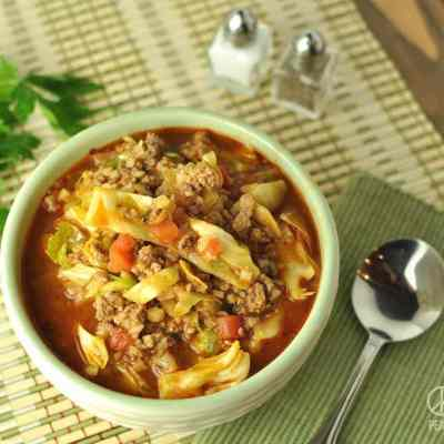 Paleo Cabbage Roll Soup  –  Low Carb, Gluten Free