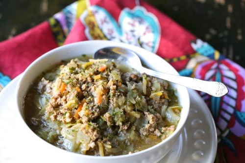 Paleo Eggroll Soup - Low Carb Pressure Cooker Round Up | Peace Love and Low Carb