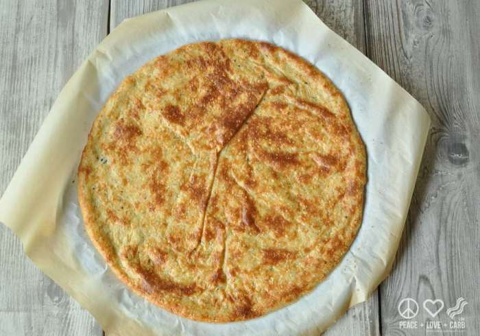 Low Carb and Gluten Free Pizza Crust - Peace Love and Low Carb