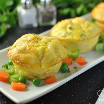 Chicken Pot Pie Egg Muffins – Low Carb, Gluten Free