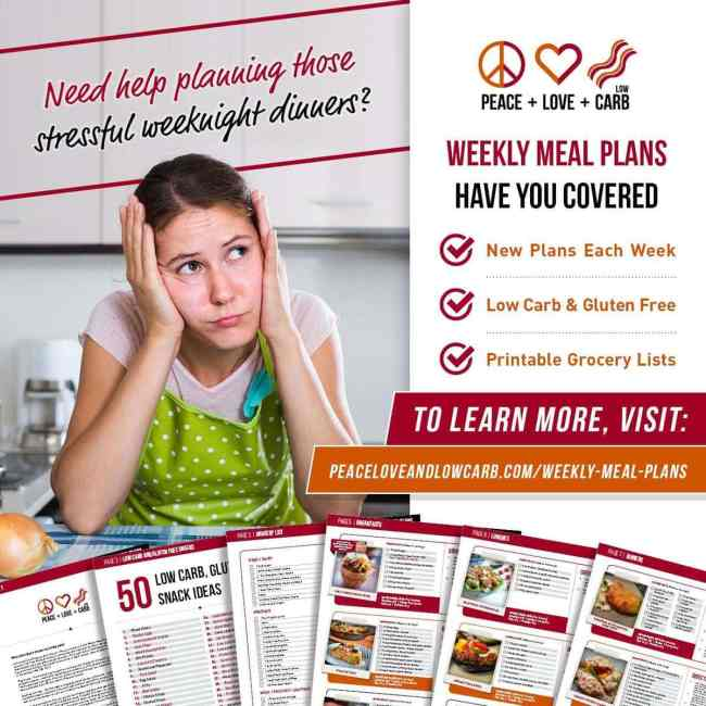 Low Carb and Gluten Free Meal Plans   Peace Love and Low Carb