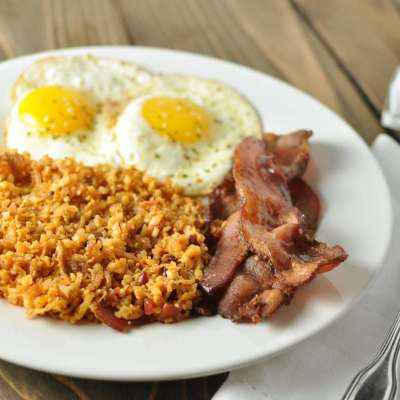 Fried Radish and Cauliflower Hash Browns with Bacon – Paleo, Low Carb